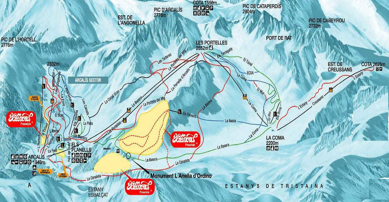 Ordino Andorra piste map