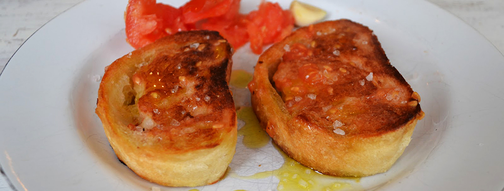 Bread with tomatoes in Andorra